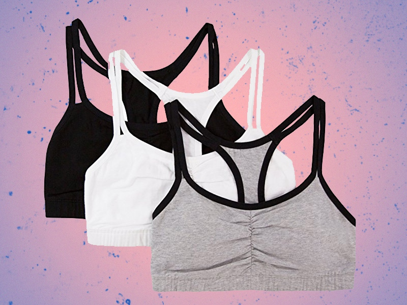 b54714d0bbd Fruit of the Loom Women s Cotton Pullover Sport Bra (Pack of 3)  10.94