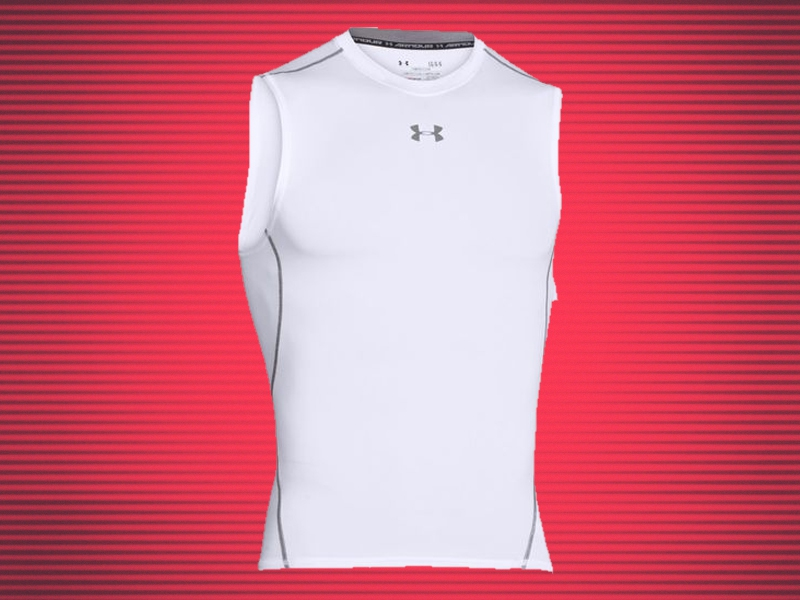 55b81f94da84f2 Under Armour Men s HeatGear Armour Compression Sleeveless T-shirt  20.99